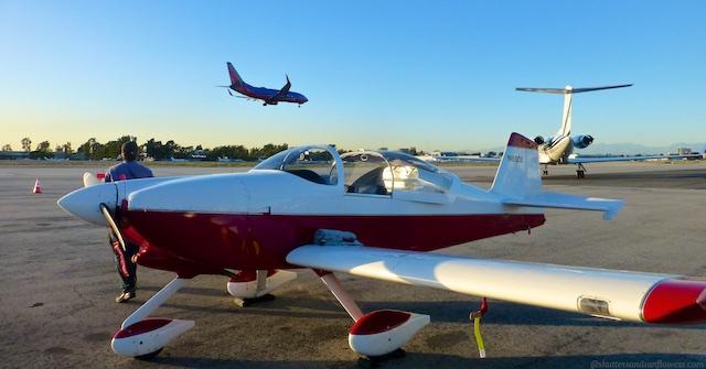Landed at John Wayne Airport Orange County, California