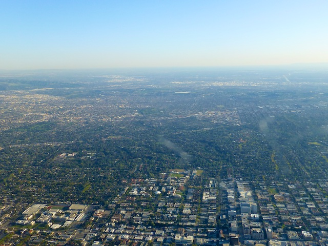 The conurbation of Los Angeles, California