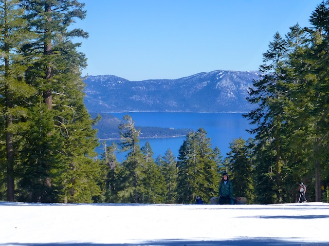 A view of Lake Tahoe from the top of Northstar Ski resort