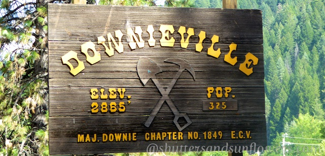 Downieville Sign, a Californian gold rush town
