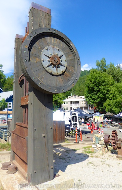 Old mining equipment in Downieville, a Californian gold rush town
