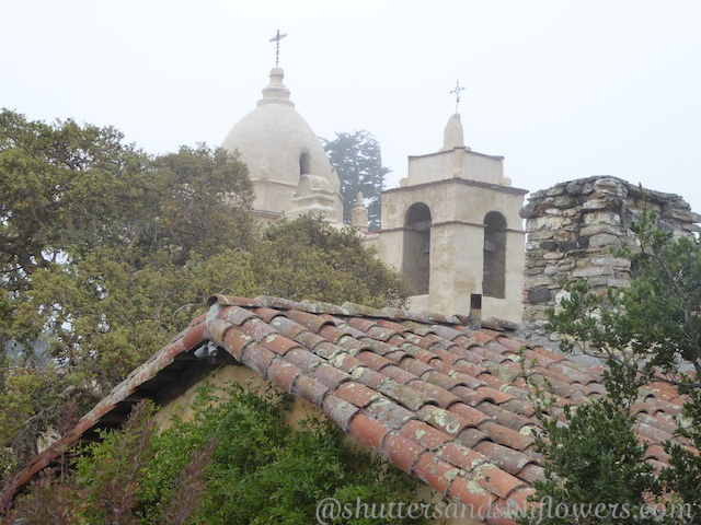 Carmel Mission in the fog