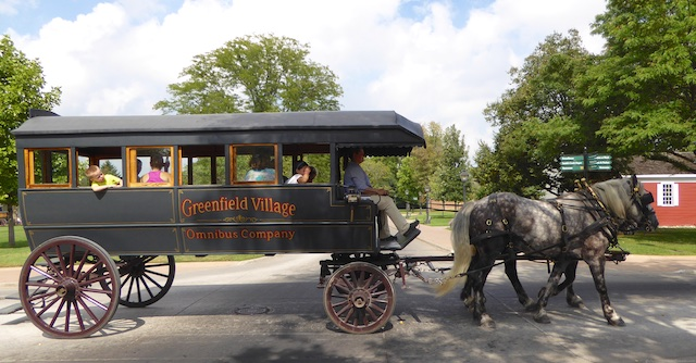 Horse drawn Omnibus at Greenfield Village