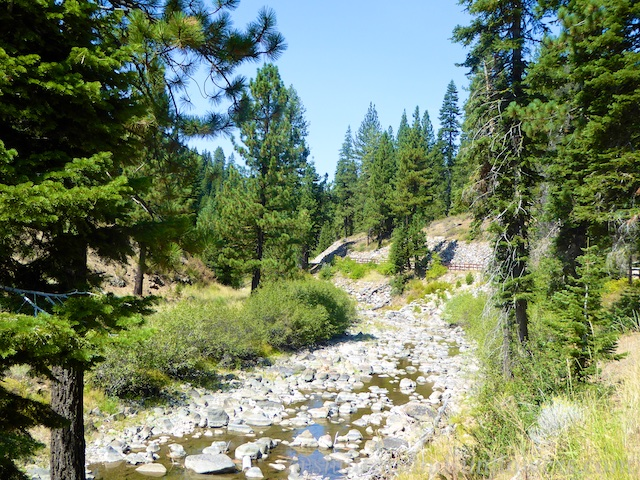 The Truckee River, Lake Tahoe in the 2015 drought