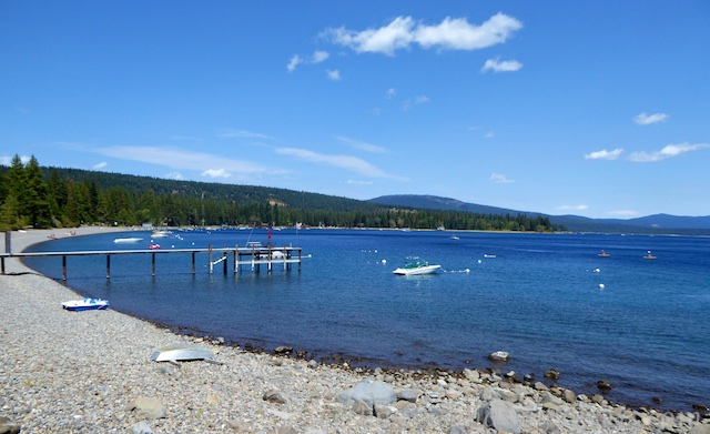 West Shore, Lake Tahoe from the bicycle trail