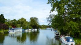 The River Thames, Goring, England