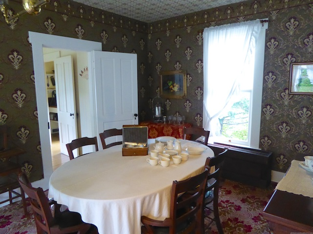 The Wright brothers' family dining room