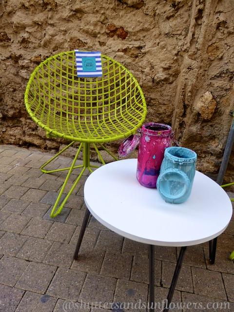 Provencal shop decor outside a shop