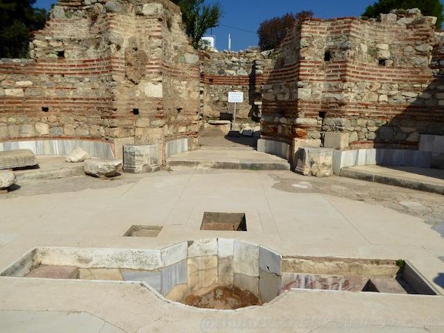 Baptismal font at the Basilica of St John, Seluck, near Ephesus,Turkey