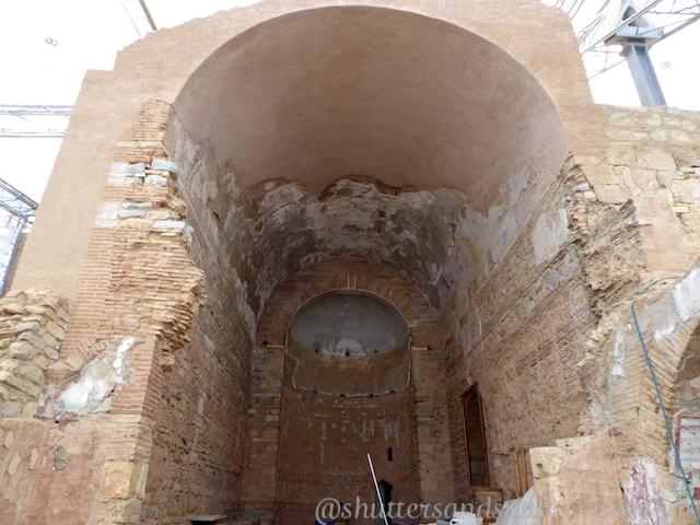 Entrance Basilica the Terrace houses of Ephesus, Turkey