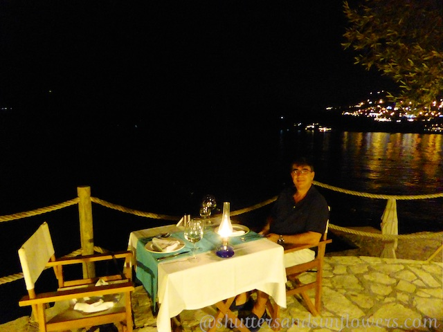 Dining ocean front at Villa Mahal, Kalkan,Turkey