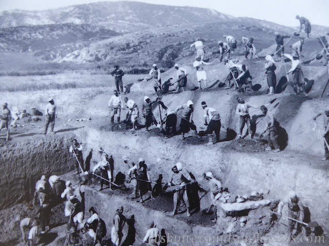 Early 19th century excavations of Ephesus,Turkey