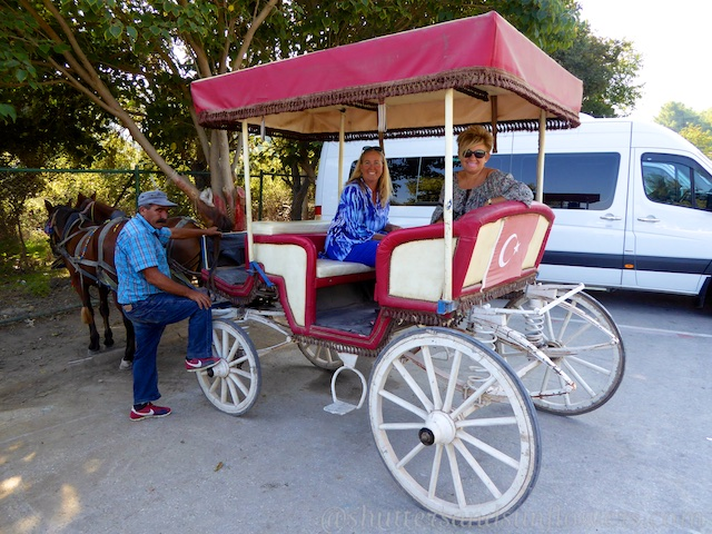 The horse and cart ride into Ephesus, Turkey