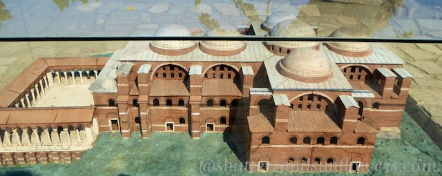 Model of the Basilica of St John, Seluck, near Ephesus,Turkey