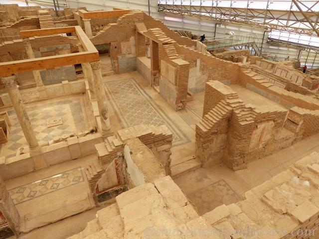Complex mosaic Floors in the Terrace houses of Ephesus, Turkey