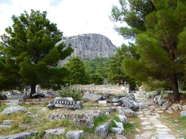The Greek ruins of Priene, Turkey