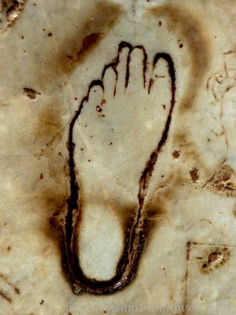 Foot print of Ephesus, Turkey