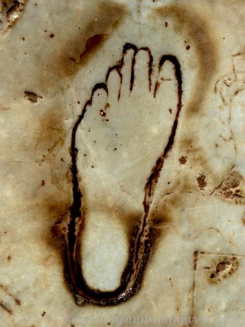 Foot print of Ephesus, Turkey