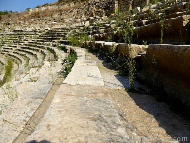 The marble seating at the Stadium at Magnesia, Turkey