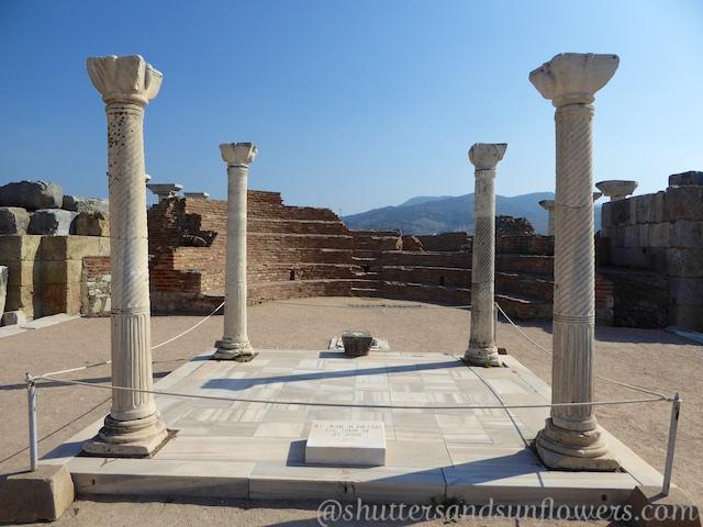 Tomb of St John at the Basilica of St John, Seluck, near Ephesus,Turkey