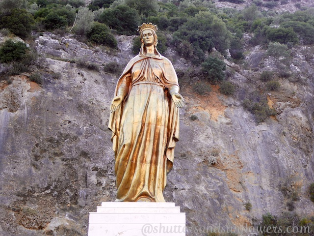 Statue of the Virgin Mary, on the road to the site believed to be her home, near Ephesus, Turkey