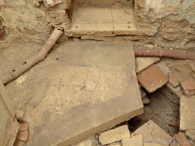 Clay pipework and drainage in the Terrace houses of Ephesus, Turkey