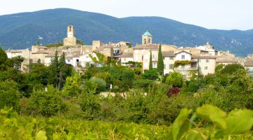 View of Lourmarin Village, Luberon, Provence, France