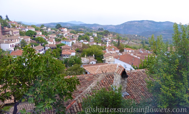 The view from the Terrace Houses in Sirince,Turkey