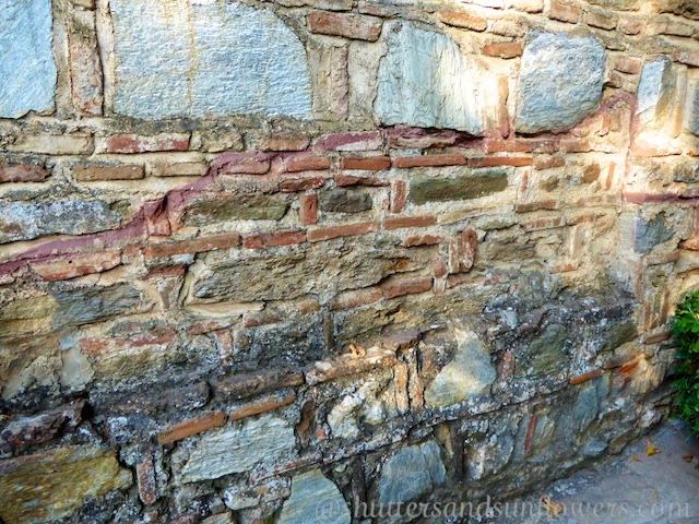 Walls of the chapel of the Virgin Mary, believed to be her home, near Ephesus, Turkey
