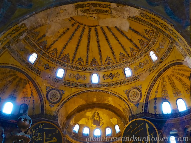 Half dome of the apse, Hagia Sophia, Istanbul, Turkey