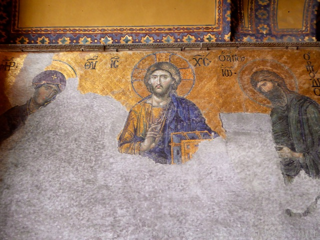 Mosaic in upper south gallery Hagia, Sophia, Istanbul, Turkey