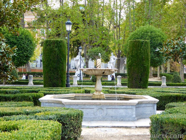 Gardens in the Plaza de Oriente, Madrid, Spain