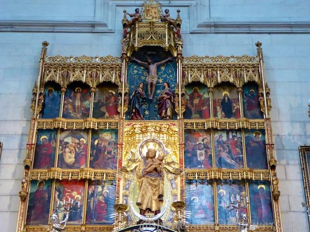 The 16th century image of the Almudena Virgin, Madrid, Spain