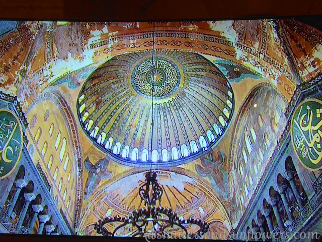 Main dome of Hagia Sophia, Istanbul, Turkey