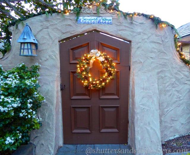 Christmas entry Carmel-by-the-sea, California