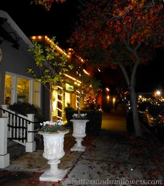 Christmas window in Danville, California