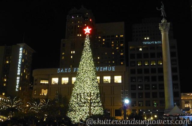 Christmas tree in Union Square, San Francisco, California