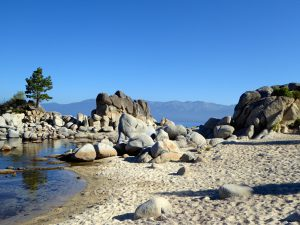 Beach on the East Shore Lake Tahoe. California