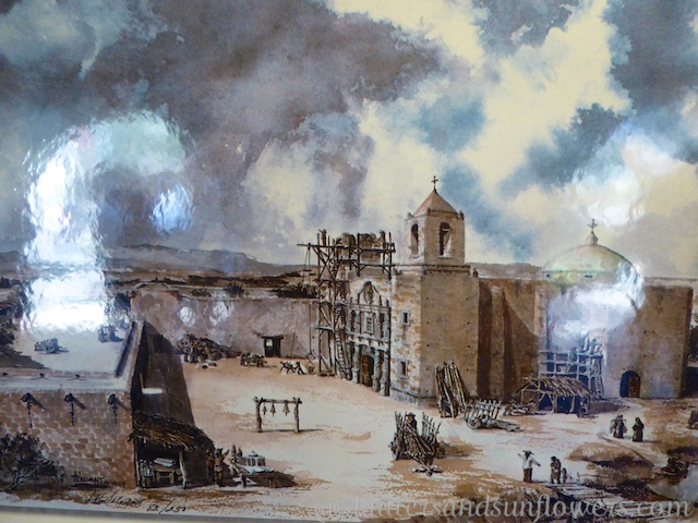 Painting of the Alamo, San Antonio,Texas