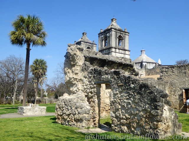 Mission Concepcion, oldest stone church in USA, in San Antonio,Texas