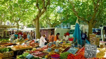 Provencal Saturday market, Uzès