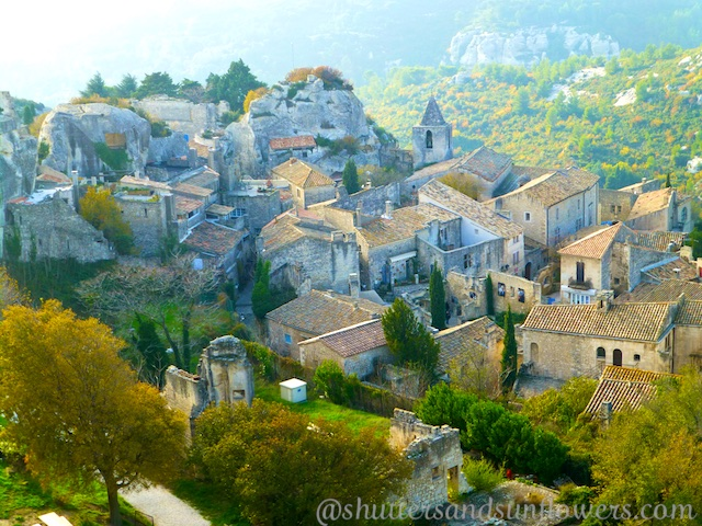 View from the Provencal perched village of Les Baux-de-Provence