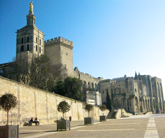 Place du Palais, by Palais des papes, Avignon, Provence, France