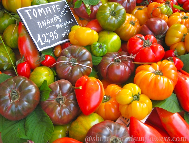 Fresh produce, tomatoes of Provence