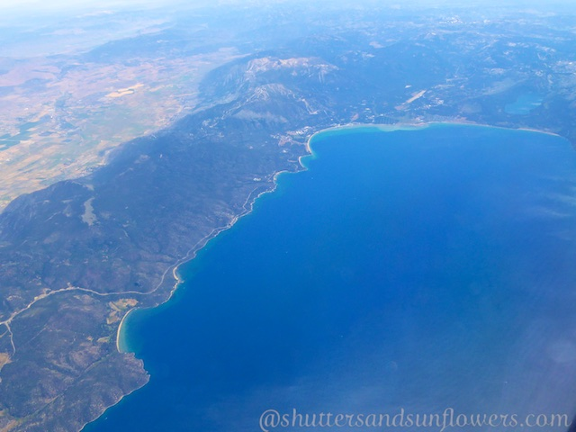 Lake Tahoe, California from 30 000 feet