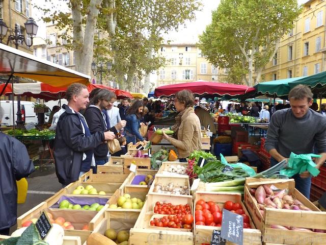 Aix-en-Provence market place, the Var, Provence, France