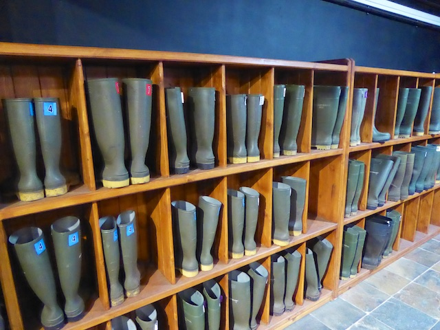 Wellie bootts for the Water to whisky experience at Laphroaig