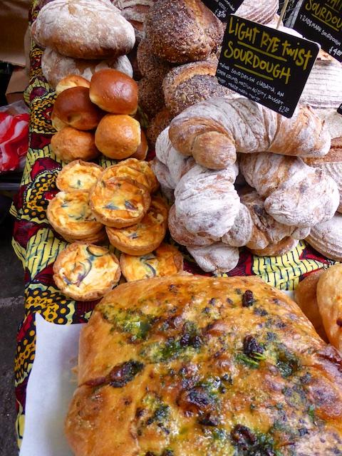 Artsian breads at Maltby Street Market, London, England