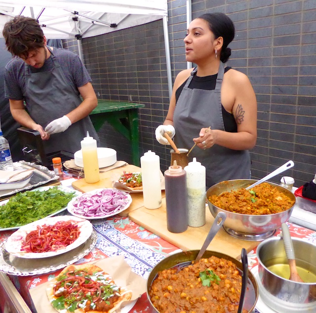 Indian food at Maltby Street Market, London, England