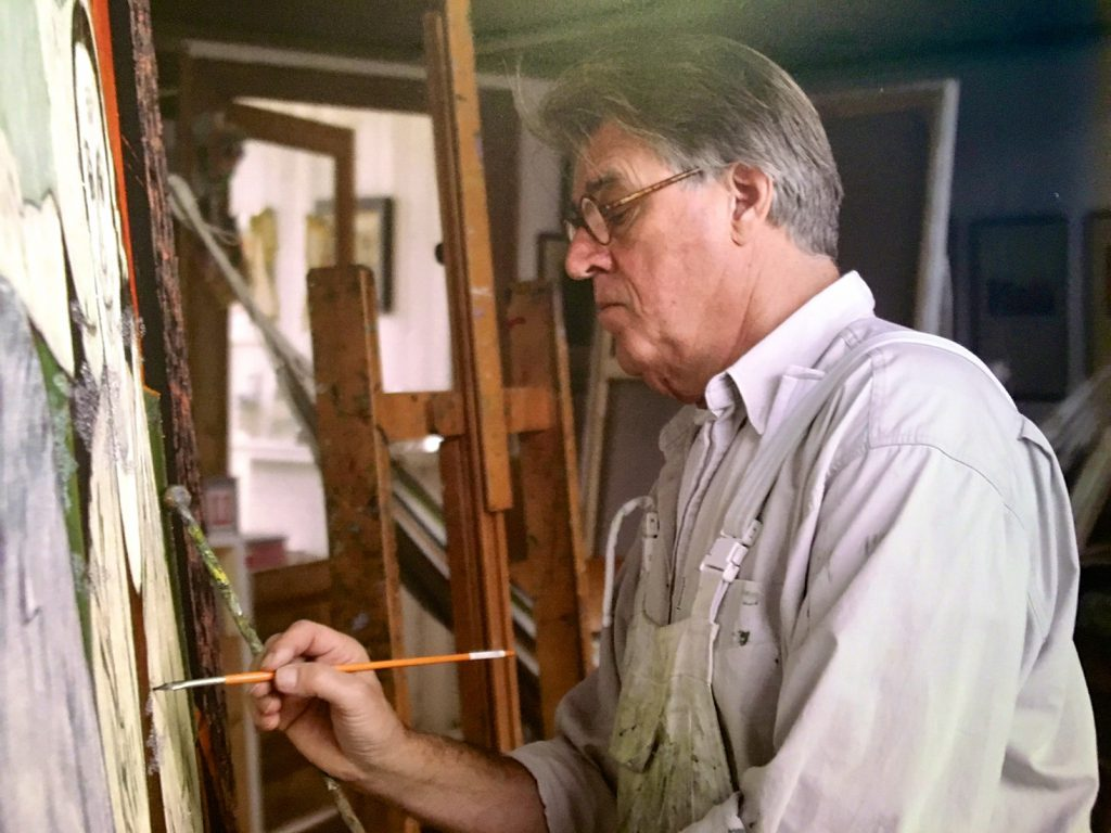 Jeroen Krabbé painting the story of his grandfather Abraham Weiss